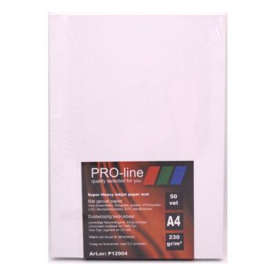 Pro-line Mat Gecoat dubbelzijdig 230gr A4 papier 50 vel