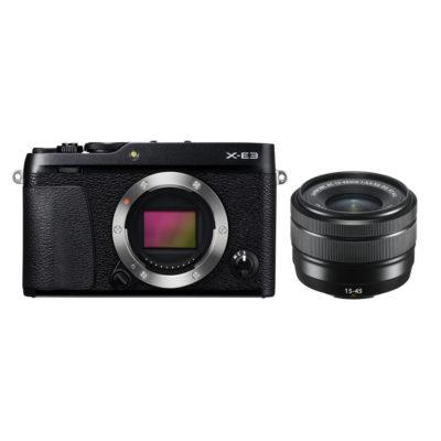 Fujifilm X-E3 systeemcamera + XC 15-45mm objectief Zwart