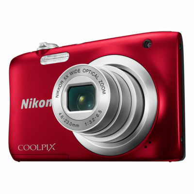 Nikon Coolpix A100 compact camera Rood