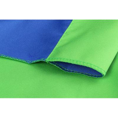 StudioKing Achtergronddoek 2.7x5m Blauw/Groen