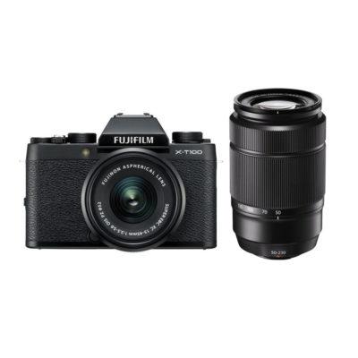 Fujifilm X-T100 systeemcamera Zwart + XC 15-45mm + XC 50-230mm