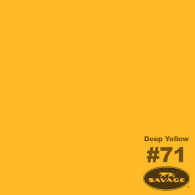 Savage Achtergrondrol Deep Yellow (nr 71) 2.75m x 11m