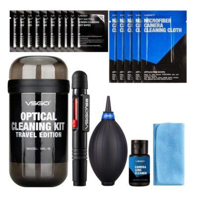 VSGO Optical Cleaning Kit Travel Grijs