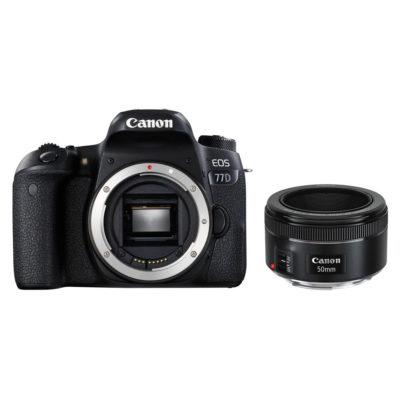 Canon EOS 77D DSLR + 50mm f/1.8 STM