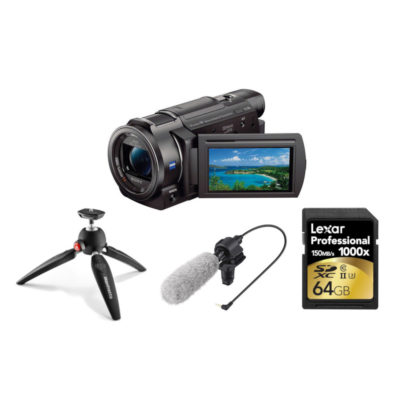 Sony FDR-AX33 4K videocamera Streaming Kit