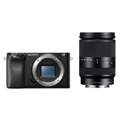 Sony Alpha A6100 systeemcamera Zwart + 18-200mm f/3.5-6.3